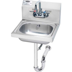 """Krowne HS-4 - 16"""" Wide Hand Sink with P-Trap with Overflow"""