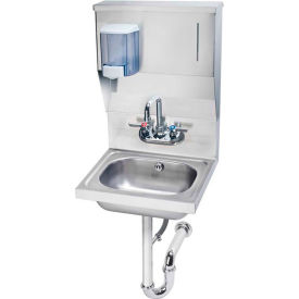 "Krowne HS-7 - 16"" Wide Hand Sink with Soap & Towel Dispenser"