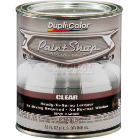 Dupli-Color® Paint Shop Finish System Clear Top Coat Gloss Clear 32 Oz. Quart - BSP300 - Pkg Qty 2