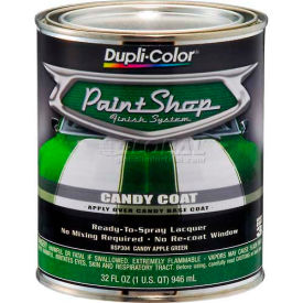 Dupli-Color® Paint Shop Finish System Candy Color Coat Candy Apple Red 32 Oz. Quart - BSP303 - Pkg Qty 2