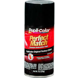 Dupli-Color® Exact-Match Automotive Paint Universal Gloss Black 8 Oz. Aerosol - BUN0100 - Pkg Qty 6