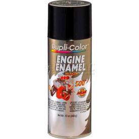 Dupli-Color® Engine Enamel With Ceramic Gloss Black 12 Oz. Aerosol - DE1613 - Pkg Qty 6