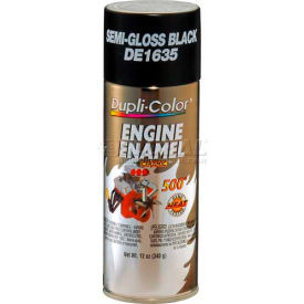 Dupli-Color® Engine Enamel With Ceramic Ford Semi-Gloss Black 12 Oz. Aerosol - DE1635 - Pkg Qty 6