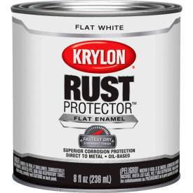 Krylon Rust Preventative Enamel Flat White  Half-Pint Can K06910700 - Pkg Qty 4