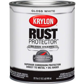 Krylon Rust Preventative Enamel Gloss White  Quart Can K06920000 - Pkg Qty 2