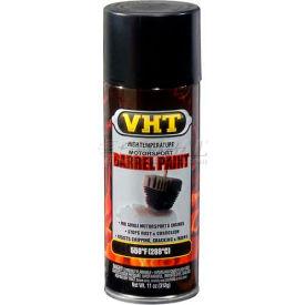 Vht High Temperature Barrel Paint Satin Black 11 Oz. Aerosol - SP906 - Pkg Qty 6