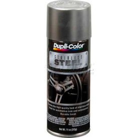 Dupli-Color® Automotive Metallic Coating Stainless Steel 11 Oz. Aerosol - SS100 - Pkg Qty 6