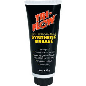 Tri-Flow Synthetic Food Grade Grease, N.L.G.I. Grade 2, 3 oz. Tube - TF23004 - Pkg Qty 6