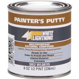 White Lightning® Siliconized Latex Glazing Compound - 1/2 Pt. - Pkg Qty 12