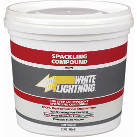 White Lightning® One Step Lightweight Spackling Compound - 1/2 pt. - WL60512 - Pkg Qty 12