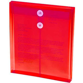 Ultracolor Expandable Poly String Tie Envelopes, Top Load, Red, 5/Pack