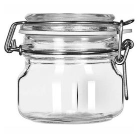 Libbey Glass 17207223 Jar W/Clamp Lid 6.75 Oz., Glassware, Infusion, 6 Pack by