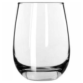 Libbey Glass 231 White Wine Glass 15.25 Oz., Glassware, Stemless, 12 Pack by