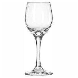 Libbey Glass 3058 White Wine Glass 6.5 Oz., Glassware, Perception, 24 Pack by