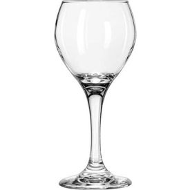 Libbey Glass 3064 Wine Glass 8 Oz., Clear Red Perception, 24 Pack by