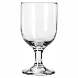 Libbey Glass 3756 Glass 10.5 Oz., Embassy Goblet, 24 Pack by
