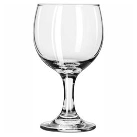 Libbey Glass 3757 Wine Glass 10.5 Oz., Embassy, 36 Pack by
