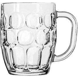 Libbey Glass 5355 - Beer Glass, Mug Stein Dimple Clear 19.25 Oz., 24 Pack