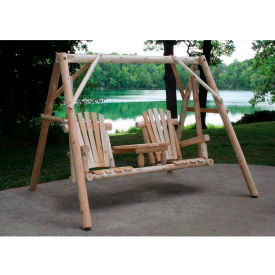 """Lakeland Mills Tete-A-Tete Swing, 87"""" W - Unfinished/Natural"""