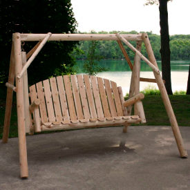 Lakeland Mills Country Garden Yard Swing - Unfinished/Natural