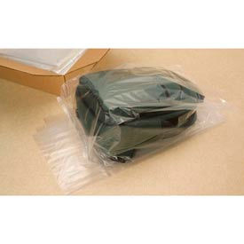 """Gusseted Poly Bags, 10"""" x 6"""" x 20"""" 1 Mil Clear, 1000/CASE"""