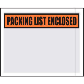 """Packing List Envelopes - """"Packing List Enclosed"""" 4-1/2"""" x 5-1/2"""" Clear Face - 1000/Case"""