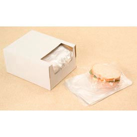 Clear Sandwich Bags in Dispenser Box 0.75 mil, 7X7 +1.5 FT , 2000 per Case, Clear by