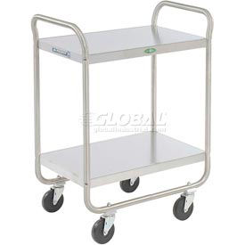 Lakeside® 210 Tubular Stainless 2 Shelf Utility Cart 27 x 17 x 35 500 Lb Cap
