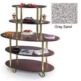Geneva Lakeside Rounded Oval Dessert Display Cart w/ 5 Shelves, 37212-01