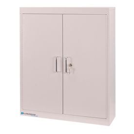 "Lakeside® Medical Storage Cabinet with 4 Adjustable Shelves, 24""W x 8""D x 30""H. Beige"