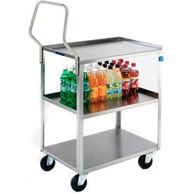 Lakeside® 4322 Handler Stainless Steel Utility Cart 31-1/4 x 18-3/8 x 35 300 Lb Cap