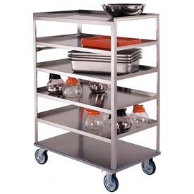 Lakeside® 448 Stainless 6 Shelf Truck 3 Edges Up 36-3/8 x 22-1/4 x 50-3/8 500 Lb