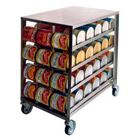 Lakeside® 458 Stainless Steel Can Rack - 72(#10 Cans), 96(#5 Cans)