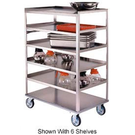 Lakeside® 461 Stainless 4 Shelf Truck 3 Edges Up 51-3/8 x 22-1/4 x 45-5/8 500 Lb