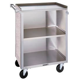 "Lakeside& 610BL - 3 Shelf Bussing Cart - 27-3/4"" x 16-1/2"", Black"