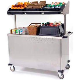 """Lakeside Economy Breakfast Cart With 3 Plastic Bins, Stainless Steel, 28-1/2""""W x 54-3/4""""L x 67""""H"""