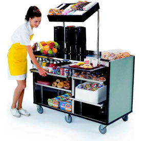 "Lakeside Mobile Mart Cart, Gray Laminate, Stainless Steel, 27-1/2""W x 60""L x 70""H - 68010"