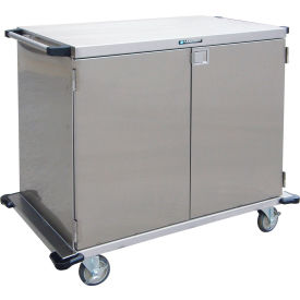 Lakeside® 6935 2 Door SS Case Cart without Center Post - 48 x 29 x 39