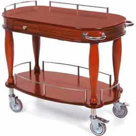 Geneva Lakeside Serving Cart w/ Pullout Shelf & Drawer, 70011