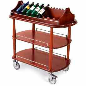 Geneva Lakeside Wine Rack Service Cart w/ Three Shelves, 70516