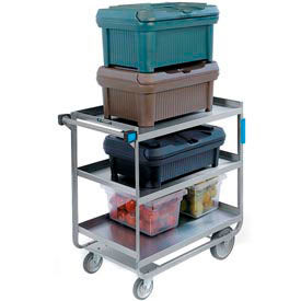Lakeside HD Stainless Steel 3 Shelf Cart 32-5/8 x 19-3/8 x 35-1/2 700 Lb Cap