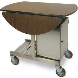 """Geneva Tri-Fold Leaf Room Service Cart/Table, Oval, 36""""W x 31""""H x 43""""L - 74405"""