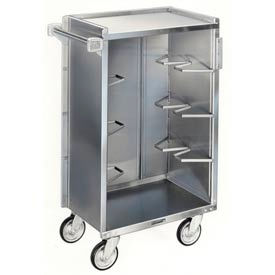 Lakeside® 815 4 Shelf Md Bussing Cart - 28-1/4X16-7/8 Walnut