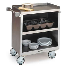 Lakeside® 822BL 3 Shelf Hd Bussing Cart - 31-1/4X19-1/2 Black