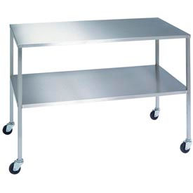 """Lakeside® 8356 Stainless Steel Instrument Table with Shelf - 36""""L x 20""""W x 34""""H"""