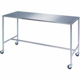 """Lakeside® 8393 Stainless Steel H-Brace Instrument Table - 48""""L x 24""""W x 34""""H"""
