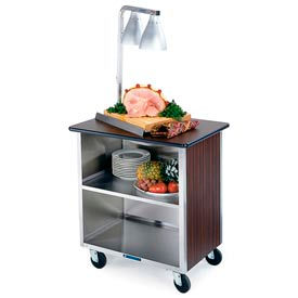 Lakeside® 844RM 3 Shelf Hd Bussing Cart - 39-5/16X22-1/2 Red Maple