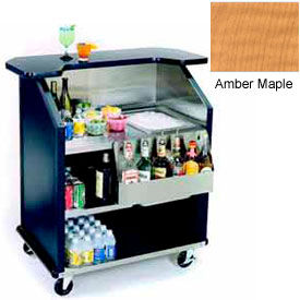"Geneva Lakeside 43"" Portable Beverage Bar, SS Interior, 884-AmberMaple"