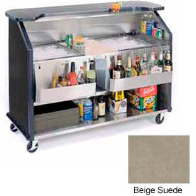 "Geneva Lakeside 64""  Beverage Bar w/ TWO Insulated Ice Bin, 886-BeigeSuede"