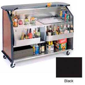 "Geneva Lakeside 64"" Portable Beverage Bar, Insulated Ice Bin, 887-Black"
